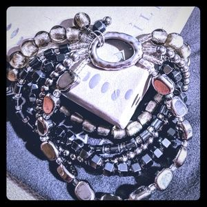 Silpada Hailstone stretch bracelet.
